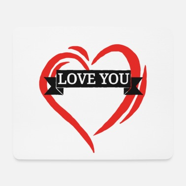Love With Heart love you heart i love you heart love with heart - Mouse Pad