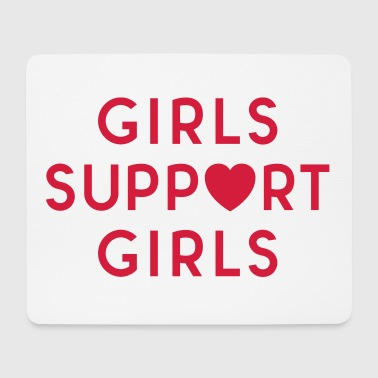 Girls Support Girls Feminist Quote - Mouse Pad (horizontal)