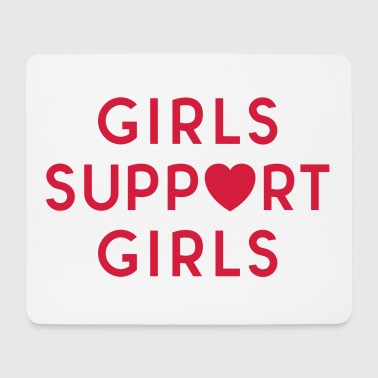 Girls Support Girls Feminist Quote - Tappetino per mouse (orizzontale)