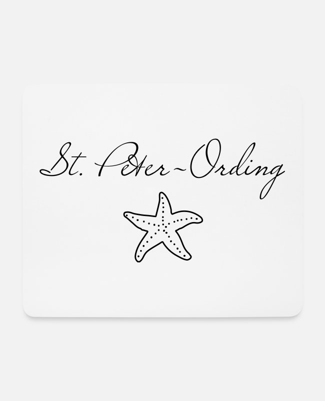 Coast Mouse Pads - St. Peter-Ording starfish - Mouse Pad white