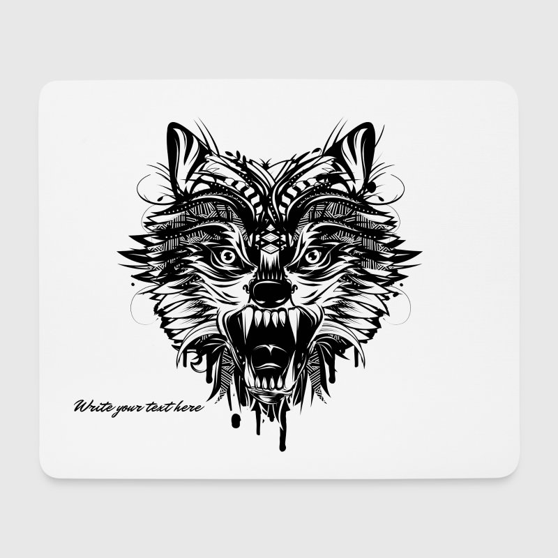 dangerous wolf  - Mouse Pad (horizontal)