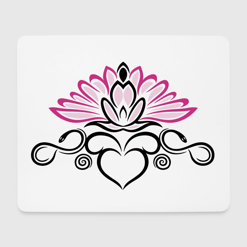 Lotus flower with infinity symbol - Mouse Pad (horizontal)