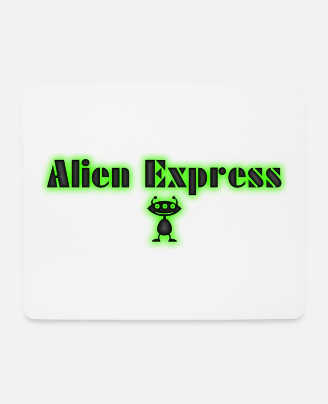 Alien Mousepads - Alien Express - Mousepad Weiß