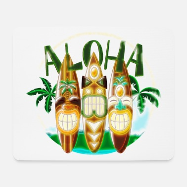 Ethno TIKI Ancestor God Figures Surf Boards ALOHA 2 - Mousepad