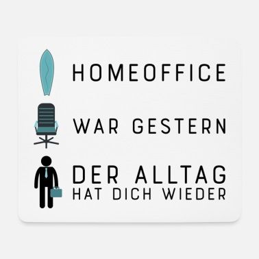 Online Work Funny design for office workers - Mouse Pad