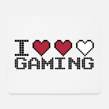 I Heart I Heart Gaming Quote - Tapis de souris