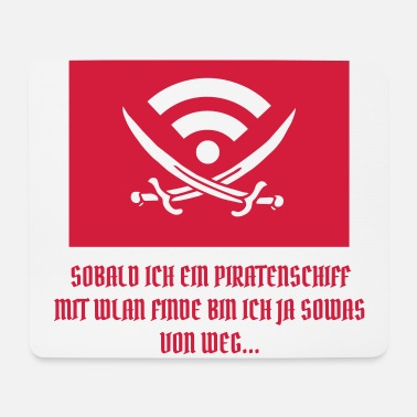 Uge PIRATE SHIP WIFI TRAVEL FLAG (Vector) - Mousepad (bredformat)