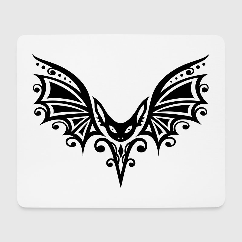 Flying Bat, tribal y diseño del tatuaje - Alfombrilla de ratón (horizontal)