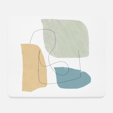 Winter Underwear Minimalistic abstract background N3 - Mouse Pad