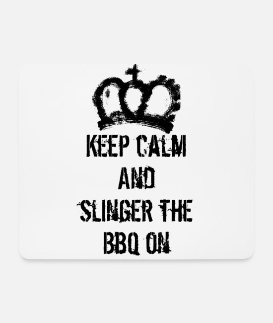 Guys Night Out Mouse Pads - Keep calm bbq - Mouse Pad white