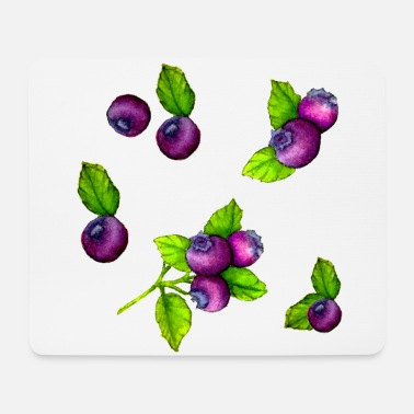 Acquerello blu Berry Botanical Fruit Pattern - Tappetino mouse
