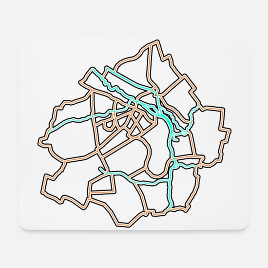 Administrative Division Of Kalisz Mouse Pads - Administrative division of Kalisz - Mouse Pad white