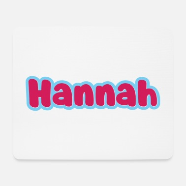 First Name Hannah name first name - Mouse Pad