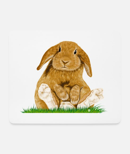 Cute Mouse Pads - Bunny! - Mouse Pad white