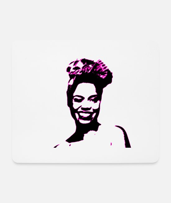 Pop Mouse Pads - Carribean Mama - purple touch edition - Mouse Pad white