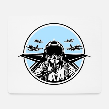 Fighter Jet Jet Pilot / Fighter Pilot 01_white Black - Mouse Pad