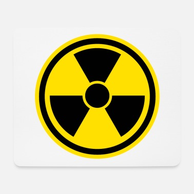 Vector Warning sign Nuclear - Mouse Pad