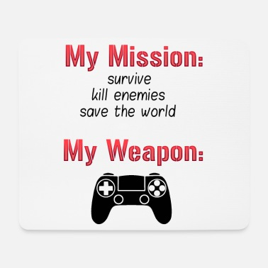 Fps Controller funny gaming gift idea gambler PC - Mouse Pad