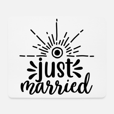 Marry Just married - wedding design - Mouse Pad