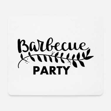 Monstre Barbecue Party noir - Tapis de souris (format paysage)
