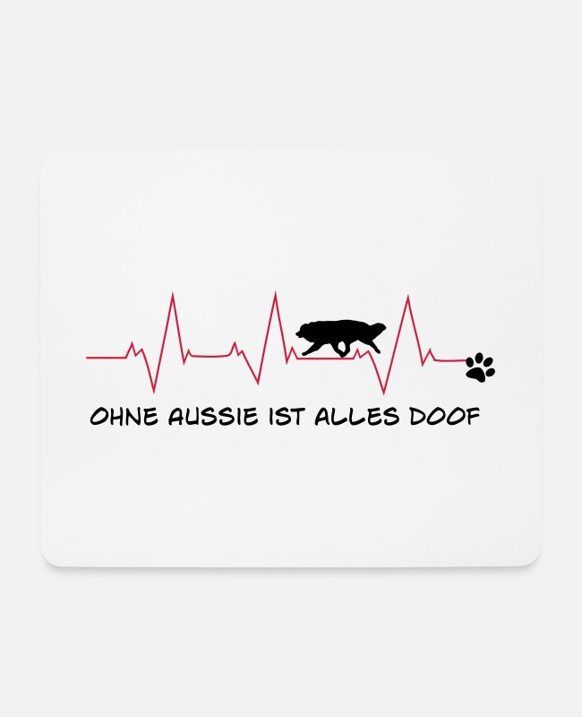 Aussie Mouse Pads - Without Aussie, everything is stupid - Mouse Pad white