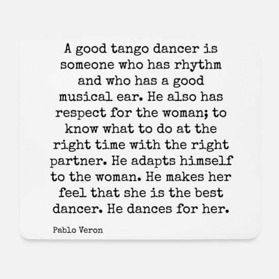 Dancer Mouse Pads - A Good Tango Dancer (Black) - Mouse Pad white