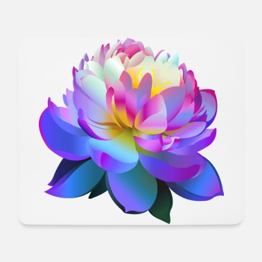 Beautiful Blue Lotus Flower - Mouse Pad