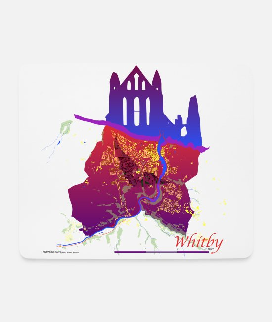 Whitby Abby Mouse Pads - A Shadow Over Whitby - Mouse Pad white