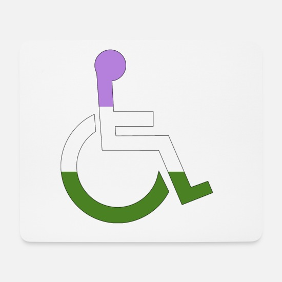 Love Mouse Pads - Disabled Genderqueer Pride - Mouse Pad white