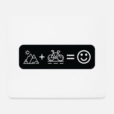 Mountains Bike shirt cycling cycling gift - Mouse Pad
