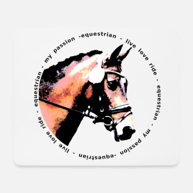 Equestrian Wheel HORSE equestrian - Mouse Pad