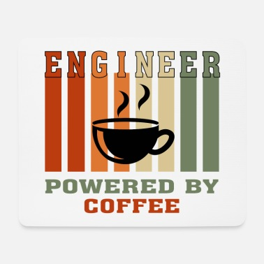 Coffee Funny Engineer Powered by Coffee Gift for Engineer - Mouse Pad