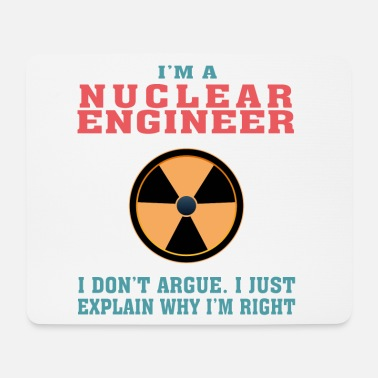 Radioactive Best Nuclear Engineer Tshirt, Funny Quote - Mouse Pad