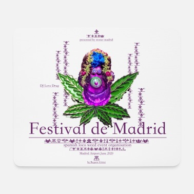 New York Regent Gitters Canabis Family -Festival de Madrid - Mousepad
