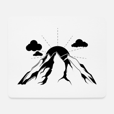 Form Berge Mountains Gipfel Symbol - Mousepad