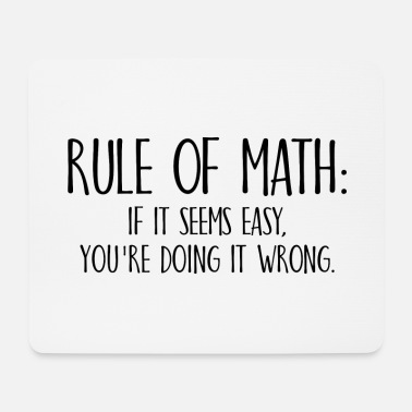 University Rule of Math Math School Student Gift - Mouse Pad