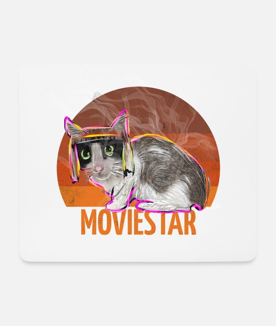 American Indian Mouse Pads - moviestar apache cat - Mouse Pad white