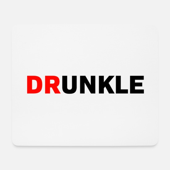 Birthday Mouse Pads - Drunkle Drunk Uncle Gift - Mouse Pad white