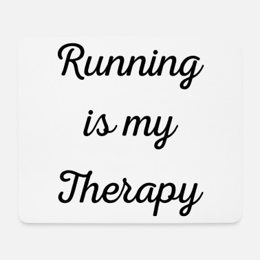 Sprinting Running is my therapy saying gift - Mouse Pad