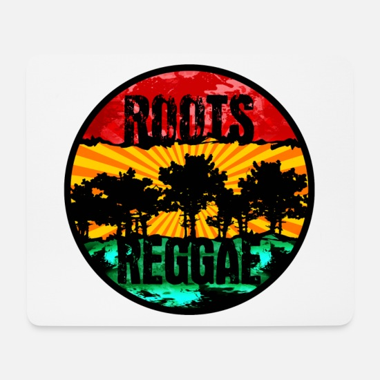Rastafari Mousepads  - roots reggae0711 - Mousepad Weiß