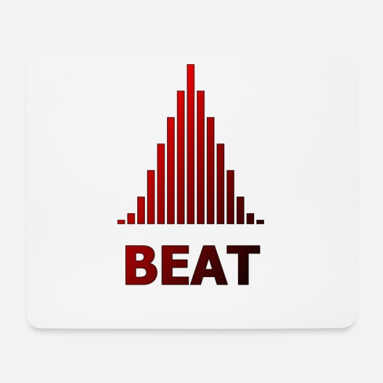 Gift Idea Mouse Pads - Beat motif - Mouse Pad white