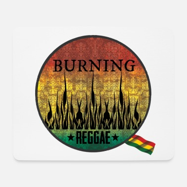 Ragga burning raggae - Mouse Pad