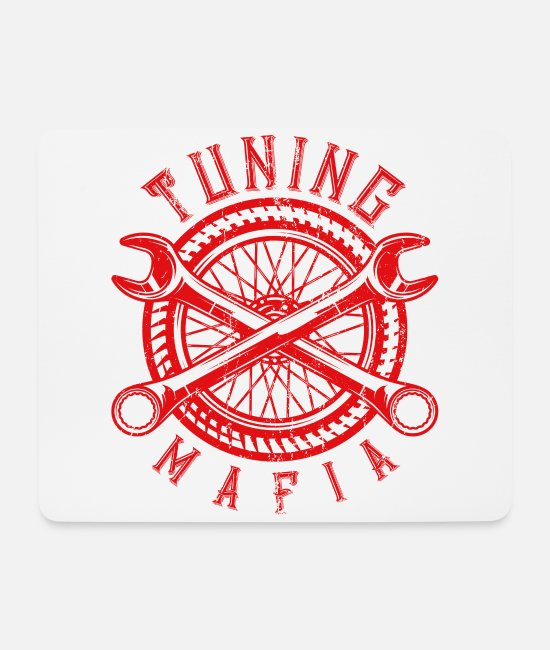 Motor Mouse Pads - Tuning mafia - Mouse Pad white