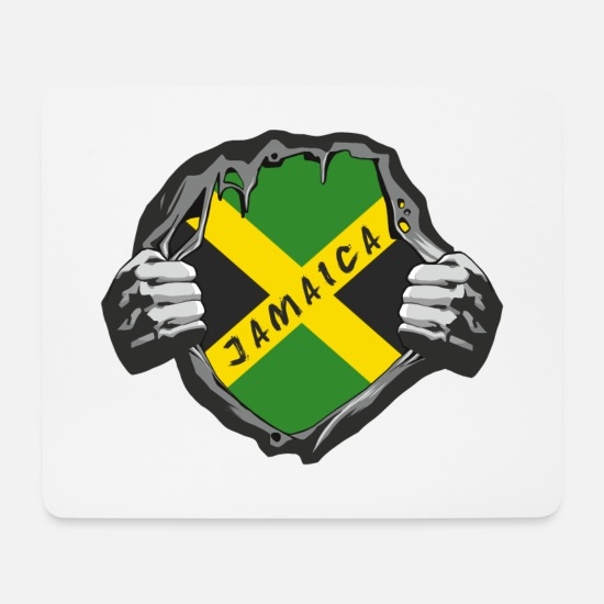 Jamaica Mouse Pads - Jamaica Chest / Gift Kingston Caribbean Jamaica - Mouse Pad white
