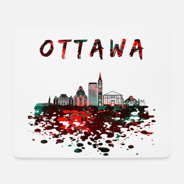 Nort America Ottawa skyline / Canada gift city - Mouse Pad