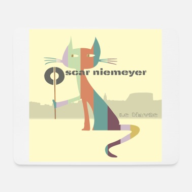Cat le havre oscar niemeyer - Mousepad