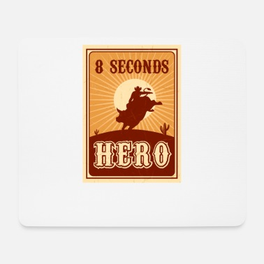Rodeo Bull Riding 8 Seconds Hero Vintage Rodeo Retro Cow - Mouse Pad