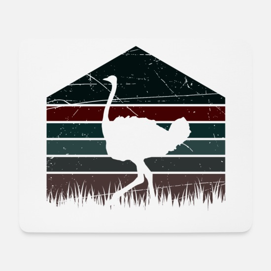 Birthday Mouse Pads - Bird ostrich - design - Mouse Pad white
