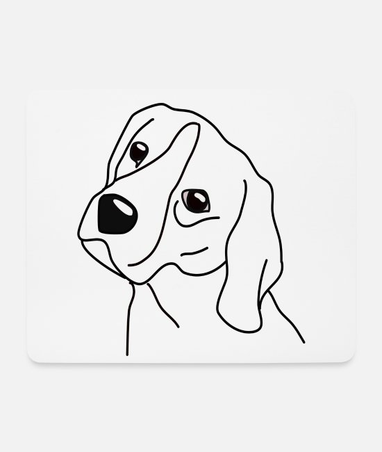 Heart Mouse Pads - Beagle Dog Shirt Love - Mouse Pad white