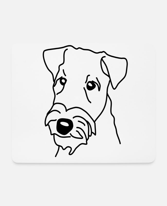 Airedale Mouse Pads - Airedale Terrier DOG SHIRT Dogshirt Love Heart - Mouse Pad white